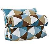 Cojín triangular para sofá o cama o como respaldo para despacho, tamaño grande, lavable, protege...