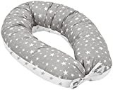 Jukki® Cojín de lactancia, cojín para dormir de lado, cojín de embarazo XXL, cojín de 170 cm...